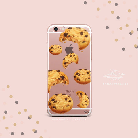 'Chocolate Chip Cookie' - Clear TPU Case Cover