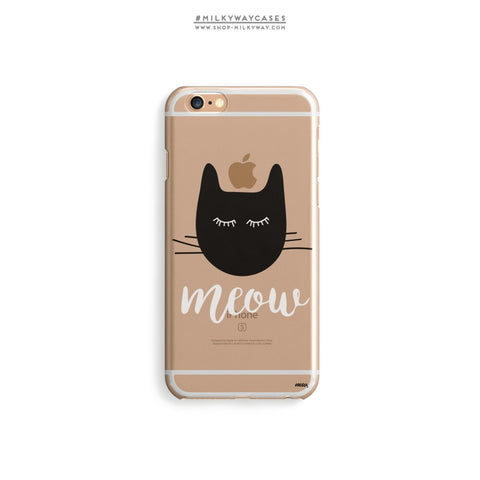 'Meow' - Clear TPU Case Cover