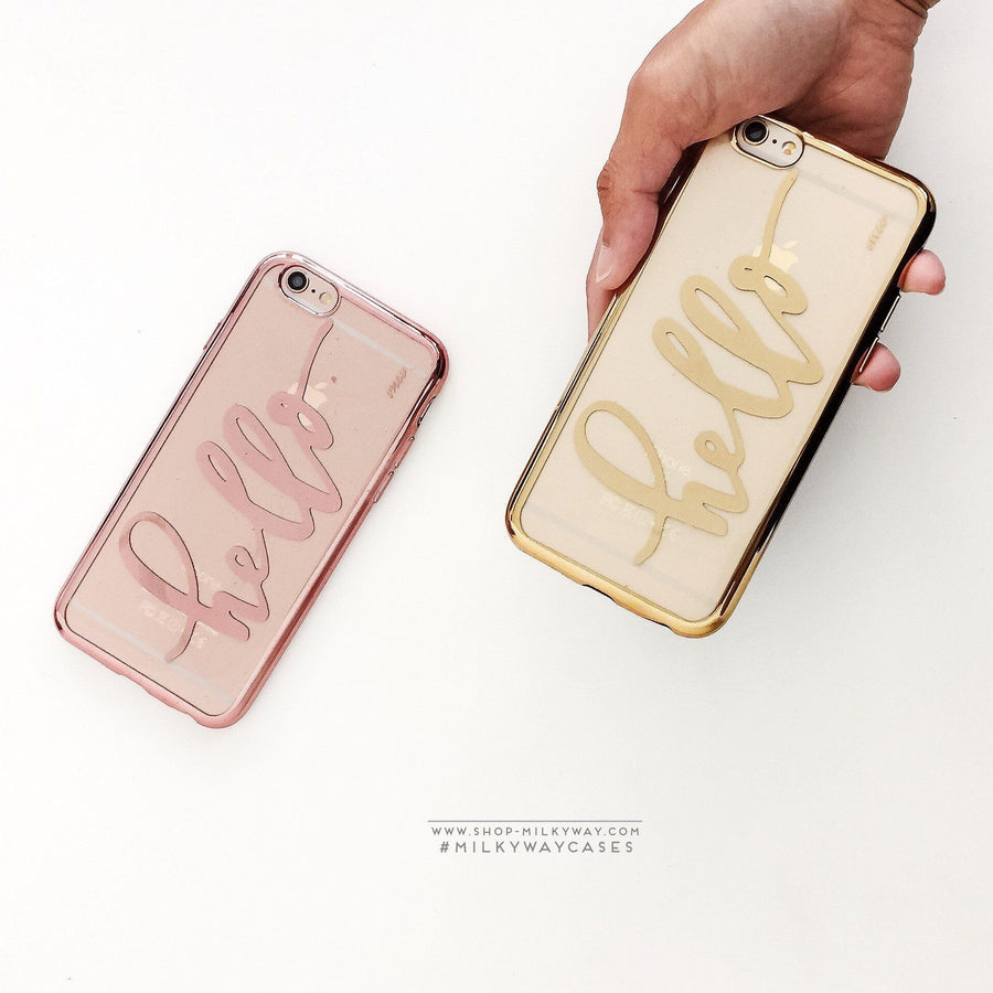 Gilt Hello' - Clear Case Cover