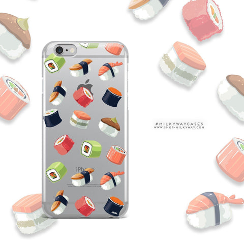 'Sushi Lover' - Clear TPU Case Cover
