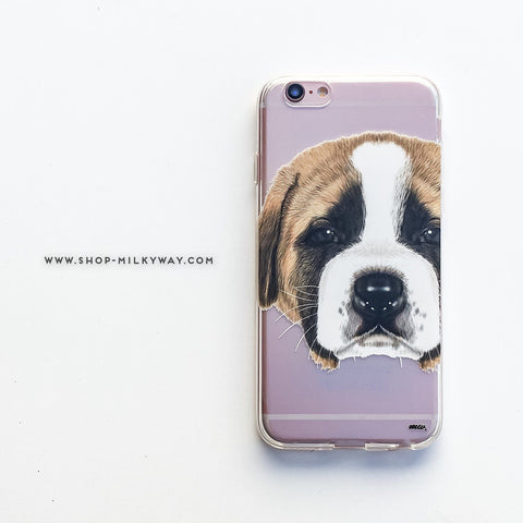 St.Bernard Puppy - Clear TPU Case Cover