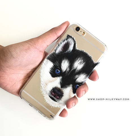 Husky Puppy - Clear TPU Case Cover