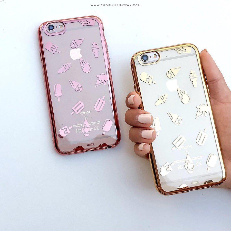 Gilt Ice Cream' - Clear Case Cover - Milkyway Cases -  iPhone - Samsung - Clear Cut Silicone Phone Case Cover