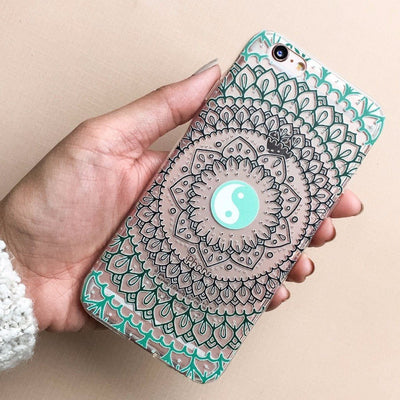 Steph Okits X Milkyway Cases Yin Yang Mandala - Clear TPU Case Cover - Milkyway Cases -  iPhone - Samsung - Clear Cut Silicone Phone Case Cover