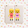 Best Friends Emoji Pair - Clear TPU Case Cover - Milkyway Cases -  iPhone - Samsung - Clear Cut Silicone Phone Case Cover