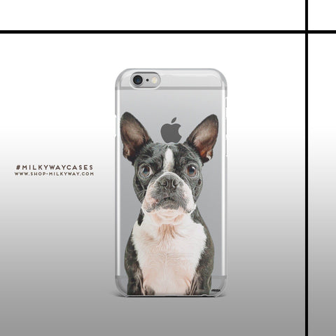 'Boston Terrier' - Clear TPU Case Cover