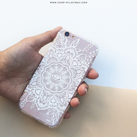 Henna Floral Eye - Clear TPU Case Cover