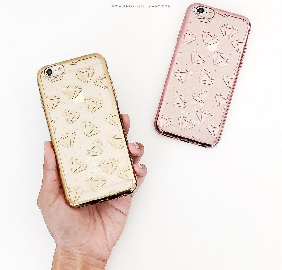 Gilt Galactic Diamonds' - Clear Case Cover - Milkyway Cases -  iPhone - Samsung - Clear Cut Silicone Phone Case Cover