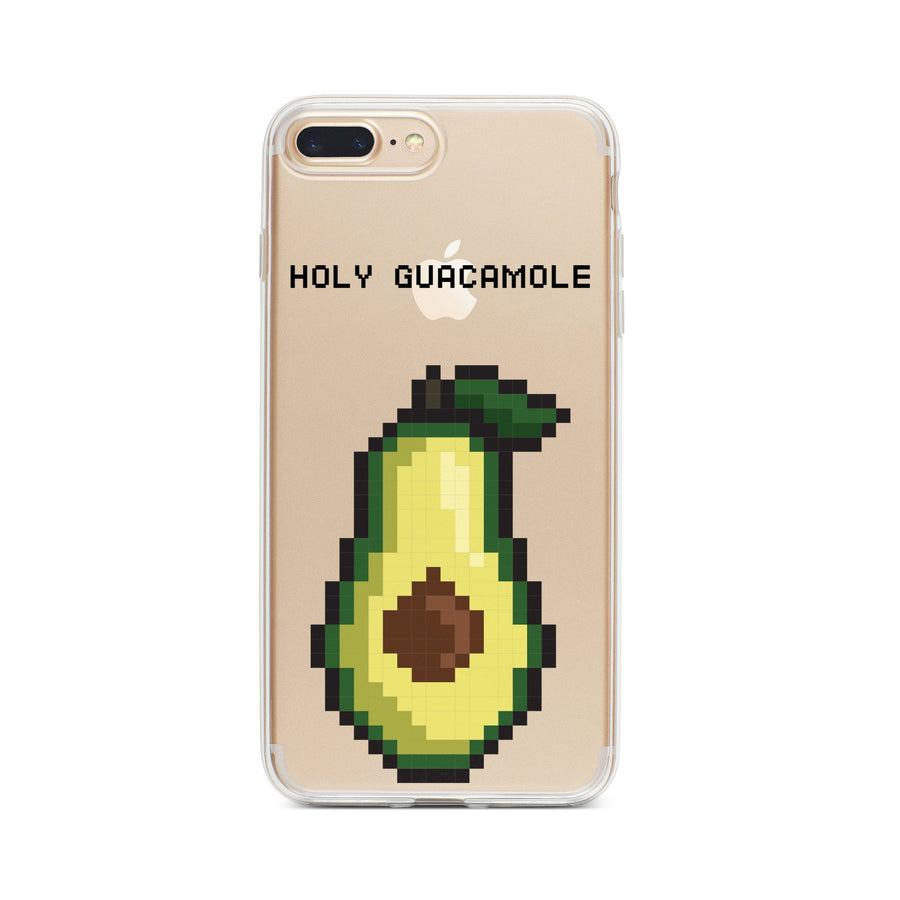Holy Guacamole 8-Bit Pixel - Clear TPU Case Cover - Milkyway Cases -  iPhone - Samsung - Clear Cut Silicone Phone Case Cover
