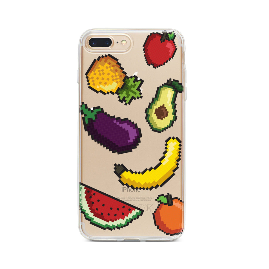 Smoothie 8-Bit Pixel - Clear TPU Case Cover