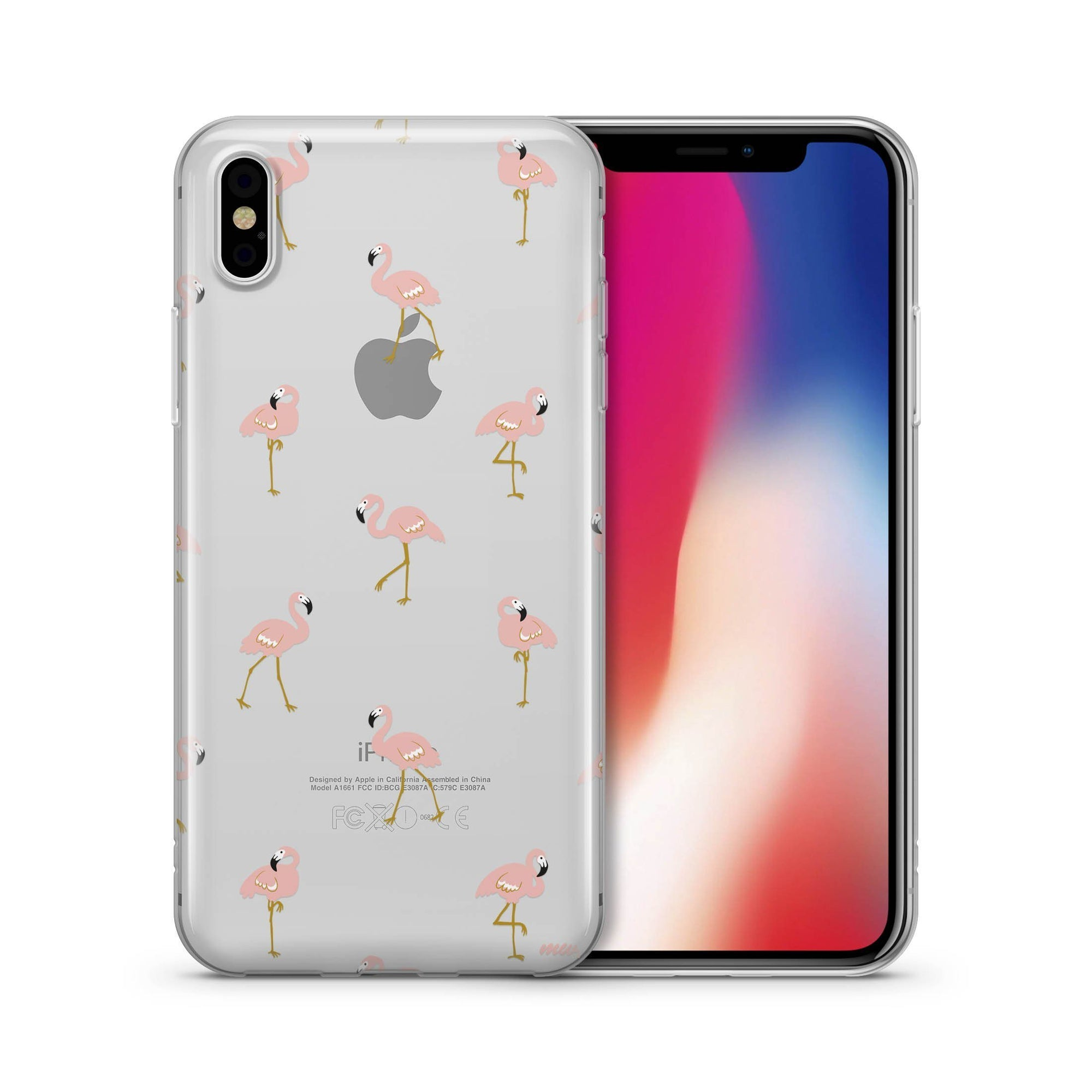 Chillin Flamingo Clear Case Cover Milkyway