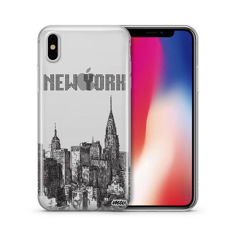 The Big Apple NYC New York - Clear TPU Case Cover