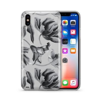 Black Tropics - Clear Case Cover - Milkyway Cases -  iPhone - Samsung - Clear Cut Silicone Phone Case Cover