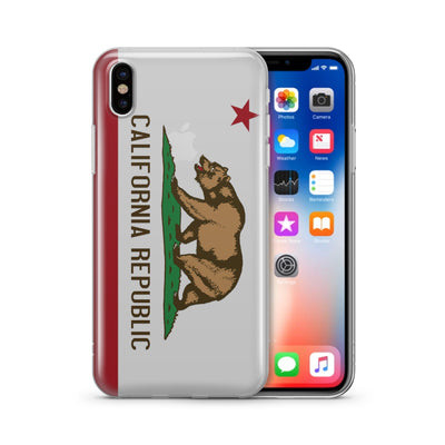 California Republic - Clear TPU Case Cover - Milkyway Cases -  iPhone - Samsung - Clear Cut Silicone Phone Case Cover