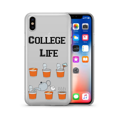 Cup Of Noodles - Clear Case Cover - Milkyway Cases -  iPhone - Samsung - Clear Cut Silicone Phone Case Cover