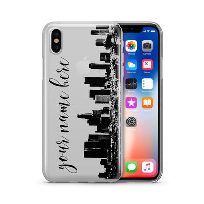 Custom LA Skyline - Clear Case Cover - Milkyway Cases -  iPhone - Samsung - Clear Cut Silicone Phone Case Cover