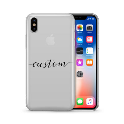 Custom Name iPhone & Samsung Clear Phone Case Cover - Milkyway Cases -  iPhone - Samsung - Clear Cut Silicone Phone Case Cover