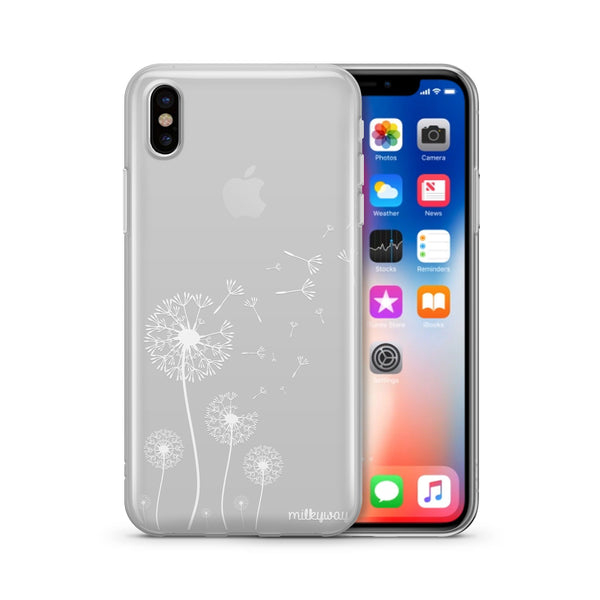 Dandelion - Clear TPU Case Cover - Milkyway Cases -  iPhone - Samsung - Clear Cut Silicone Phone Case Cover