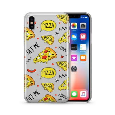 Eat Me Pizza - Clear Case Cover - Milkyway Cases -  iPhone - Samsung - Clear Cut Silicone Phone Case Cover