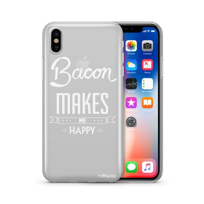 Henna Bacon Makes Me Happy - Clear TPU Case Cover
