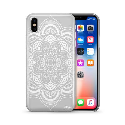Henna Full Mandala  - Clear TPU Case Cover Milkyway iPhone Samsung Clear Cute Silicone 8 Plus 7 X Cover