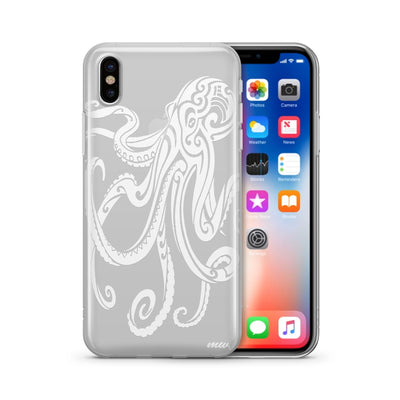 Henna Octopus - Clear TPU Case Cover Milkyway iPhone Samsung Clear Cute Silicone 8 Plus 7 X Cover