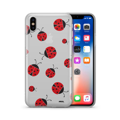 Ladybug - Clear Case Cover - Milkyway Cases -  iPhone - Samsung - Clear Cut Silicone Phone Case Cover