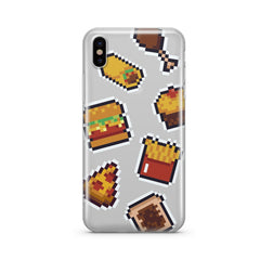 Fast Food 8-Bit Pixel - Clear TPU Case Cover