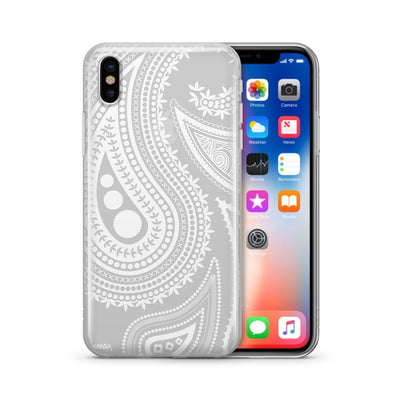 Acrilan Henna Paisley - Clear TPU Case Cover - Milkyway Cases -  iPhone - Samsung - Clear Cut Silicone Phone Case Cover