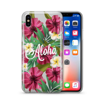 Aloha 2.0 - Clear Case Cover - Milkyway Cases -  iPhone - Samsung - Clear Cut Silicone Phone Case Cover