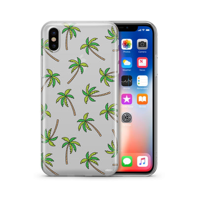 Aloha Trees Clear TPU Case - Clear Cut Silicone iPhone Cover - Milkyway Cases