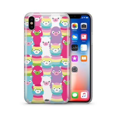 Alpaca Squad - Clear Case Cover - Milkyway Cases -  iPhone - Samsung - Clear Cut Silicone Phone Case Cover