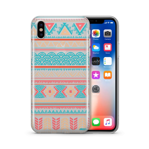 Aztec Tribal Diagram - Clear TPU Case Cover - Milkyway Cases -  iPhone - Samsung - Clear Cut Silicone Phone Case Cover
