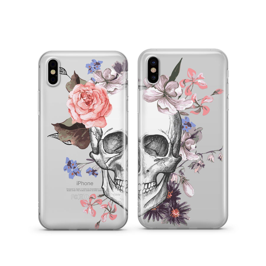 Best Friends Sugar Skull - Clear TPU Case Cover - Milkyway Cases -  iPhone - Samsung - Clear Cut Silicone Phone Case Cover