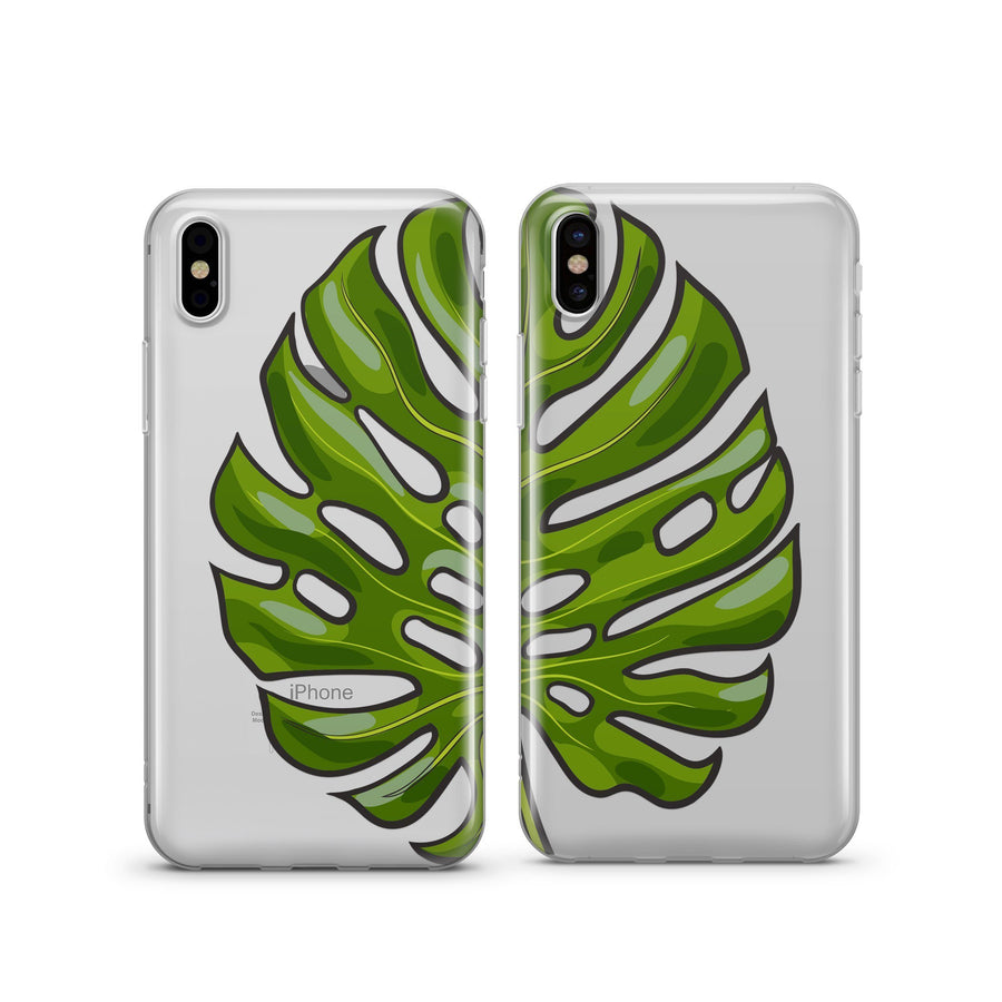 Best Friends Monstera - Clear TPU Case Cover