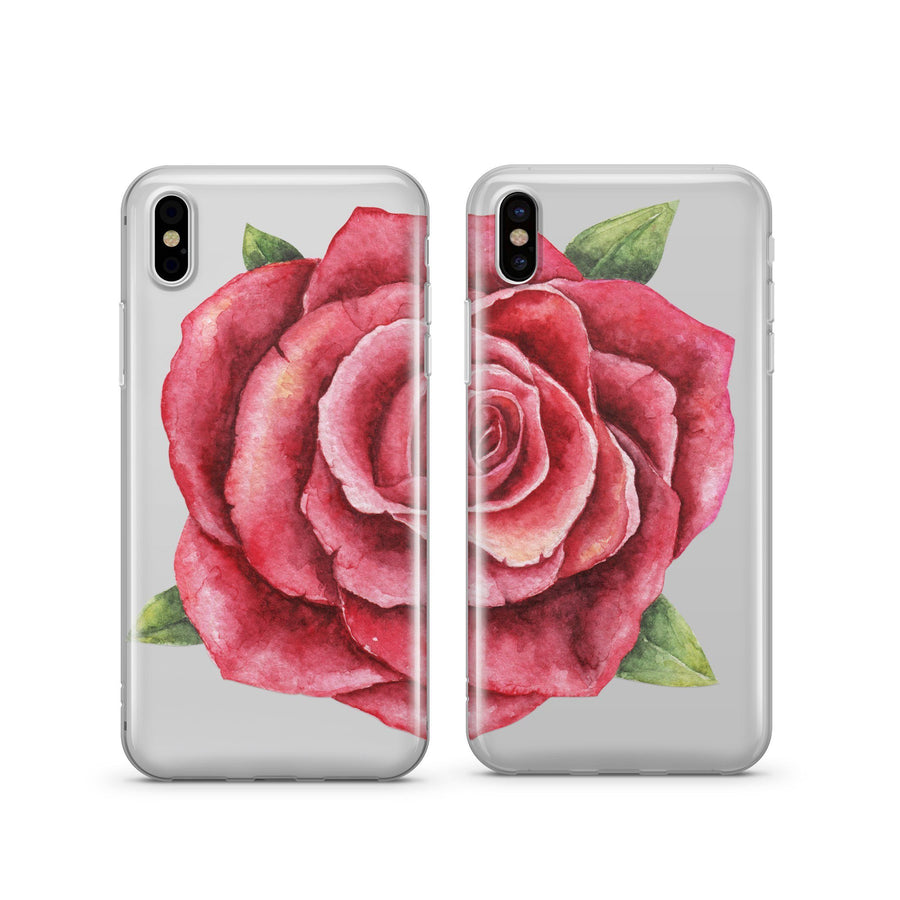 Rose Best Friends - Clear TPU Case Cover