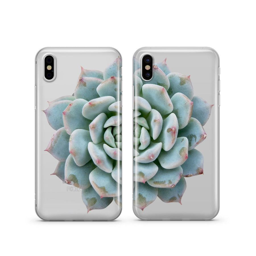 Succulent Best Friends - Clear TPU Case Cover