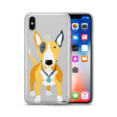 Bull Terrier - Clear TPU Case Cover - Milkyway Cases -  iPhone - Samsung - Clear Cut Silicone Phone Case Cover