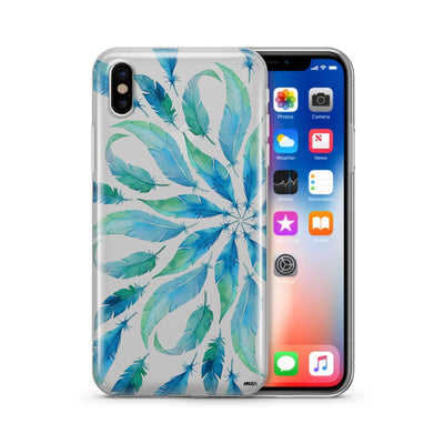Burst of Feathers - Clear TPU Case Cover - Milkyway Cases -  iPhone - Samsung - Clear Cut Silicone Phone Case Cover
