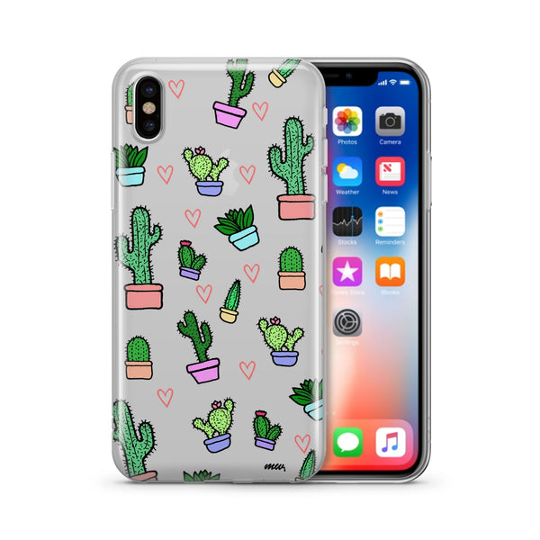 @Okitssteph X Milkyway Cases Cactus Love - Clear Case Cover - Milkyway Cases -  iPhone - Samsung - Clear Cut Silicone Phone Case Cover