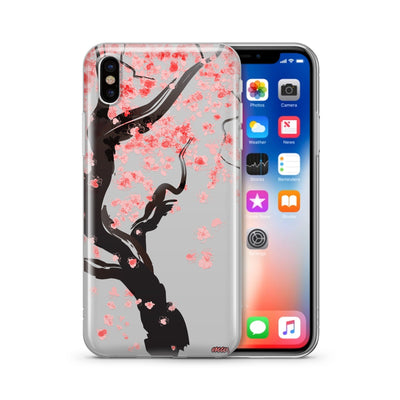 Cherry Blossom Tree - Clear TPU Case Cover - Milkyway Cases -  iPhone - Samsung - Clear Cut Silicone Phone Case Cover