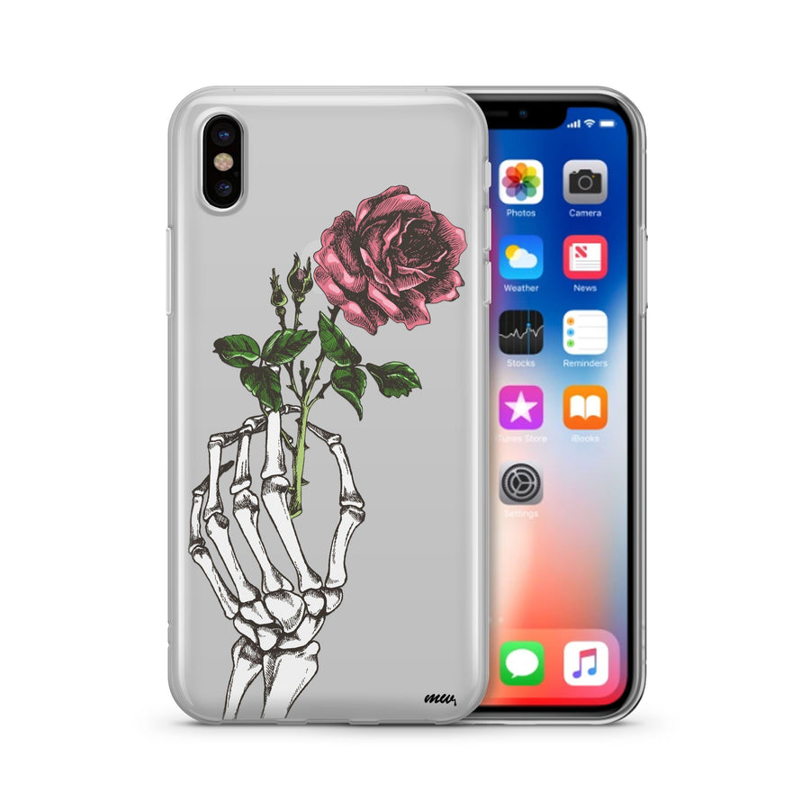 Crane Rose iPhone & Samsung Clear Phone Case Cover
