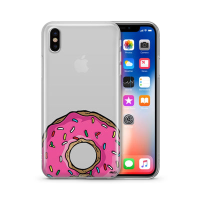 D'ohnuts - Clear TPU Case Cover - Milkyway Cases -  iPhone - Samsung - Clear Cut Silicone Phone Case Cover