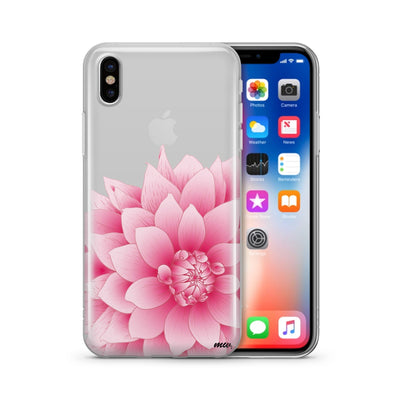 The Dahlia - Clear TPU Case Cover - Milkyway Cases -  iPhone - Samsung - Clear Cut Silicone Phone Case Cover
