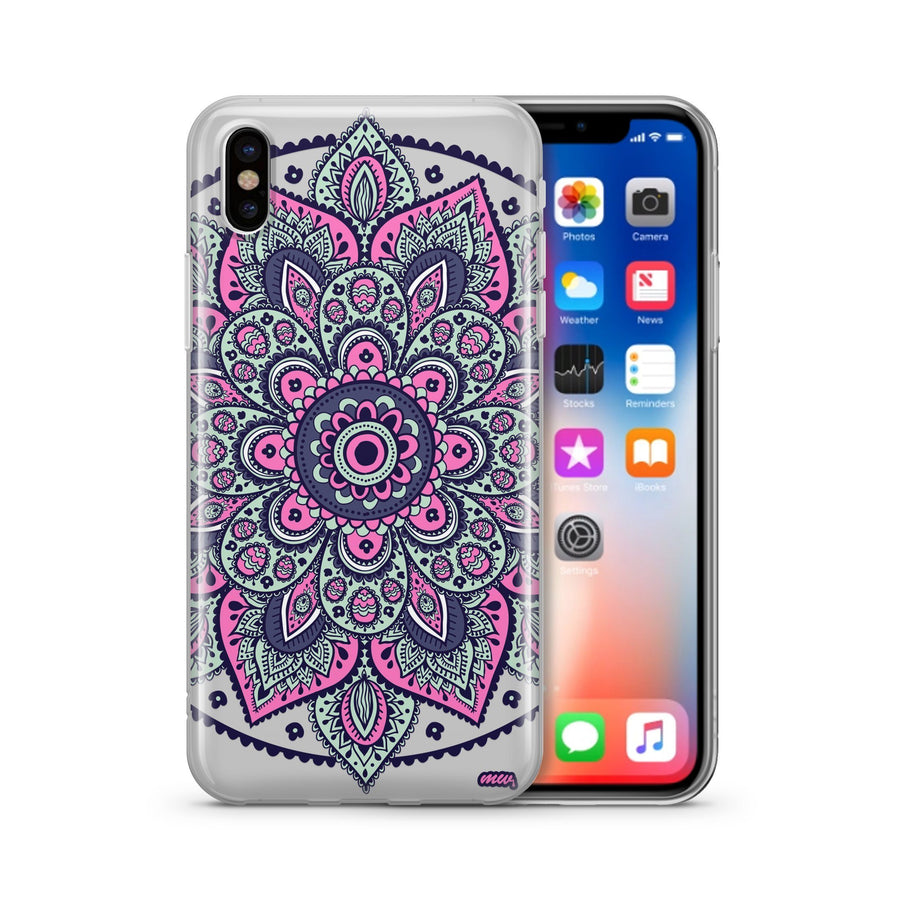 Dakota Mandala - Clear TPU - iPhone Case