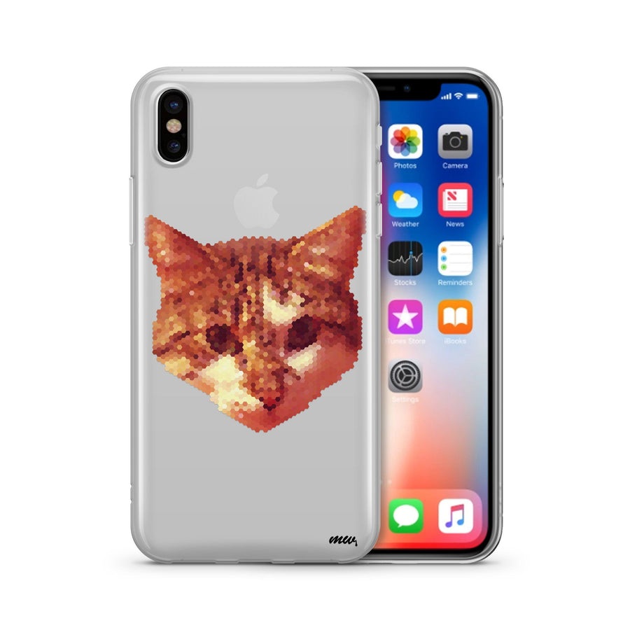 Digital Cat - Clear TPU Case Cover - Milkyway Cases -  iPhone - Samsung - Clear Cut Silicone Phone Case Cover