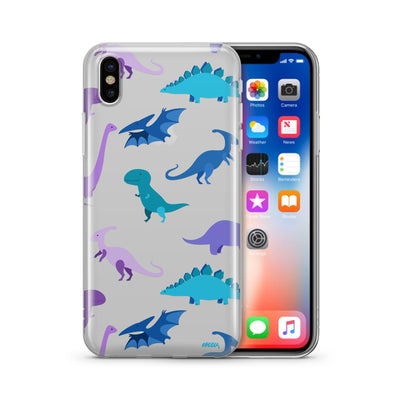 Dino Time - Clear TPU Case Cover - Milkyway Cases -  iPhone - Samsung - Clear Cut Silicone Phone Case Cover