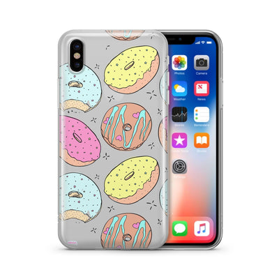 Donut Doughnut  - Clear TPU Case Cover - Milkyway Cases -  iPhone - Samsung - Clear Cut Silicone Phone Case Cover