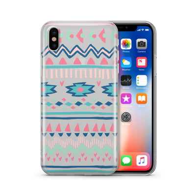 Doodle Aztec - Clear TPU Case Cover - Milkyway Cases -  iPhone - Samsung - Clear Cut Silicone Phone Case Cover
