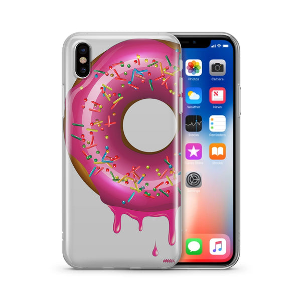 Dripping Donut - Clear TPU Case Cover - Milkyway Cases -  iPhone - Samsung - Clear Cut Silicone Phone Case Cover